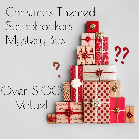Over $100 Value 🤪Scrapbookers X-Mas Mystery Box